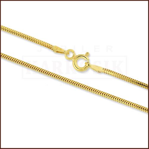 Pozłacany łańcuszek - Żmijka 50cm pr.925