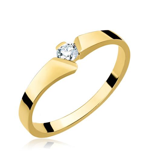 Złoty pierścionek z cyrkonią pr.585