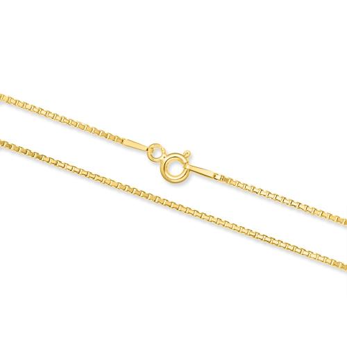 Pozłacany łańcuszek - Kostka 45cm pr.925