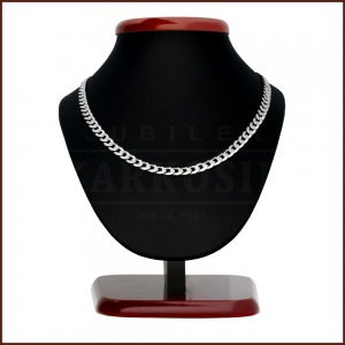 Srebrny łańcuszek - Pancerka 55cm pr.925