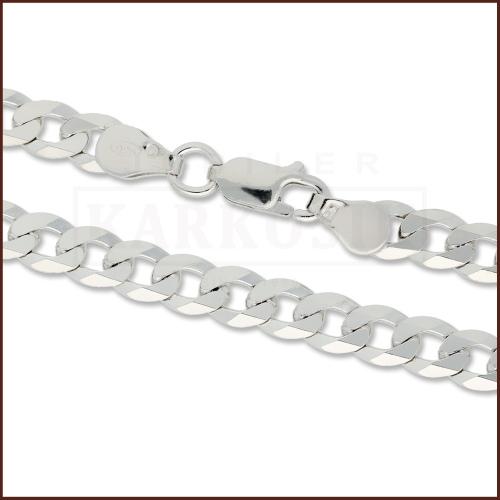 Srebrny łańcuszek - Pancerka 60cm pr.925