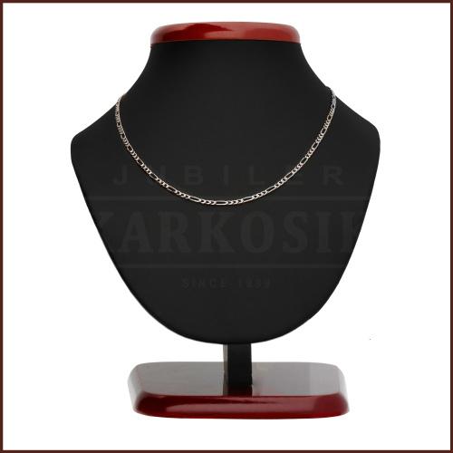 Srebrny łańcuszek - Figaro 55cm pr.925
