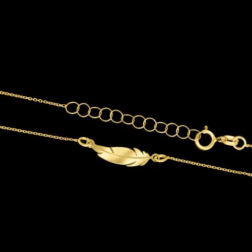 Złoty Naszyjnik Celebrytka - Piórko pr.585