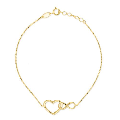 Złota bransoletka potrójna celebrytka - Skrzydło Anioła pr.585