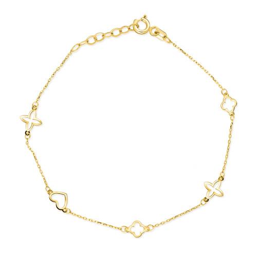 Złota bransoletka celebrytka - Marokańskie motywy pr.585