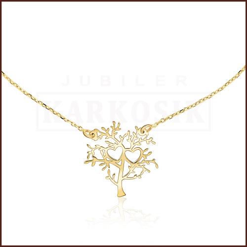 Złoty Naszyjnik Celebrytka - Drzewko pr.585