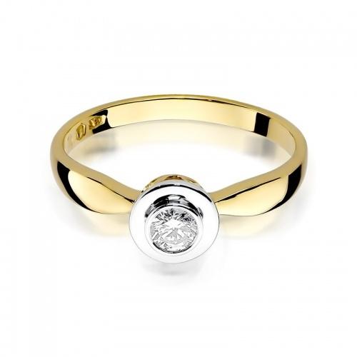 Pierścionek zaręczynowy z brylantem 0,20ct pr.585