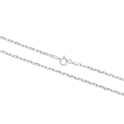 Srebrny łańcuszek - Ankier 50cm pr.925