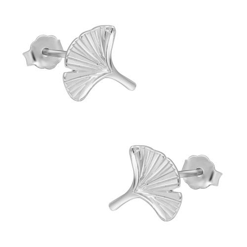 Srebrne kolczyki - Liście Miłorzębu pr.925