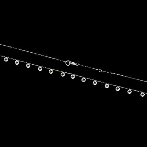 Srebrny naszyjnik celebrytka - Subtelne Kryształy pr.925