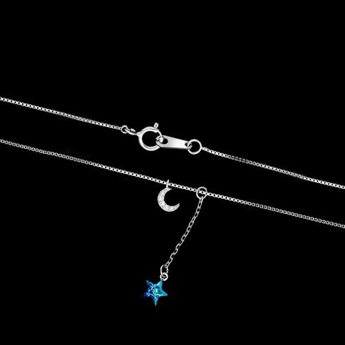 Srebrny naszyjnik krawatka - Gwiazdka z nieba pr.925