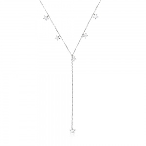 Srebrny naszyjnik krawatka - Gwiazdki pr.925
