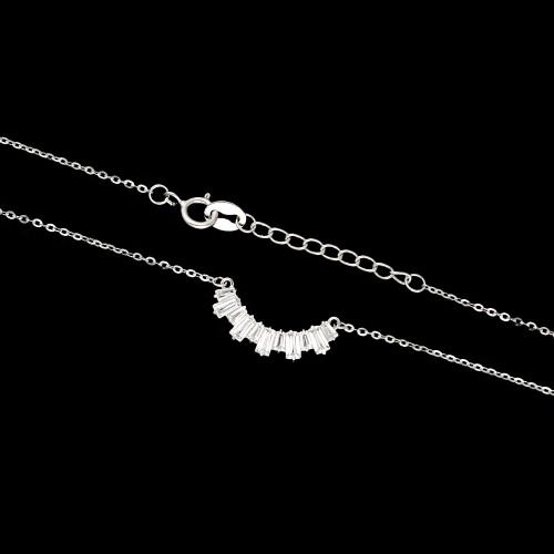 Srebrny naszyjnik celebrytka - Kryształowy Łuk pr.925