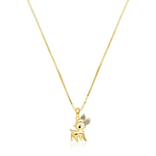 Pozłacany naszyjnik - Jelonek Bambi pr.925