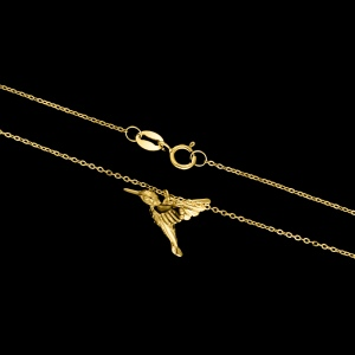 Pozłacany naszyjnik - Koliber pr.925