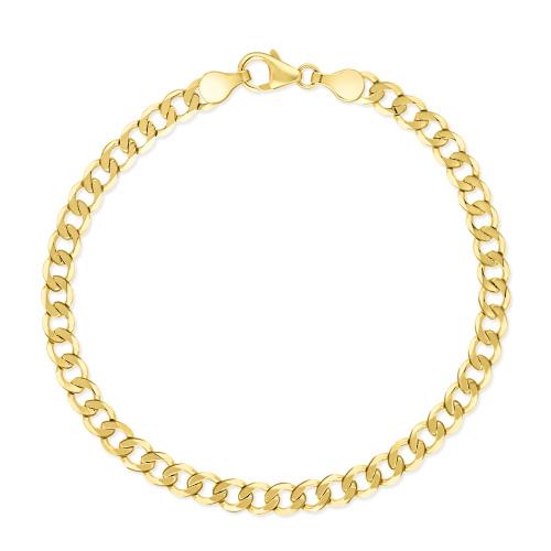 Złota Bransoletka Pancerka 21cm pr.585