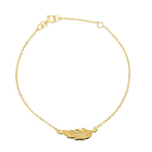 Złota bransoletka celebrytka - Piórko pr.585