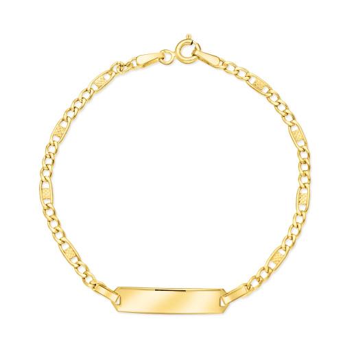 Złota bransoletka 15cm pr.585