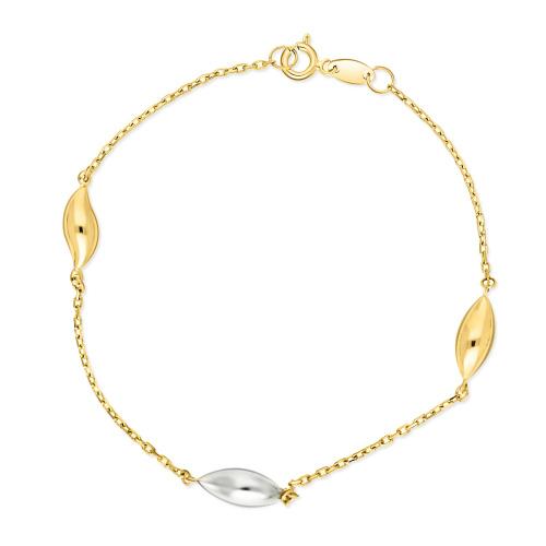 Złota bransoletka 19cm pr.585
