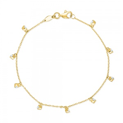 Złota bransoletka celebrytka - Błyszczące Cyrkonie pr.585