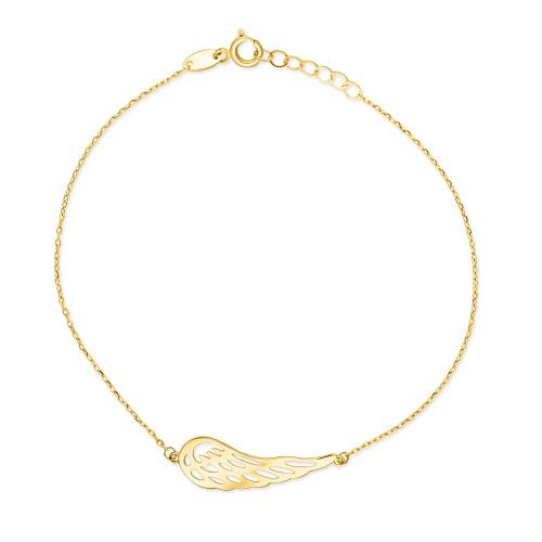 Złota bransoletka celebrytka - Skrzydło Anioła pr.585