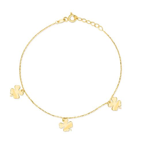 Złota bransoletka celebrytka - Potrójne Szczęście pr.585