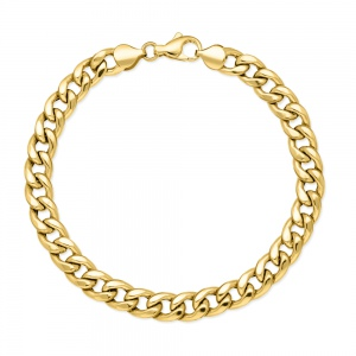 Złota bransoletka - Pancerka 20cm pr.585