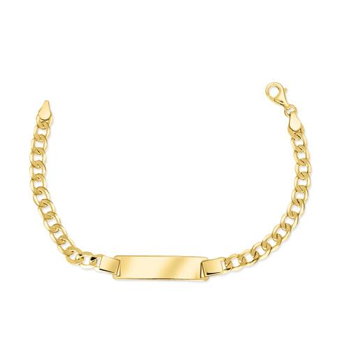 Złota bransoletka panceka - Blaszka 21cm pr.585