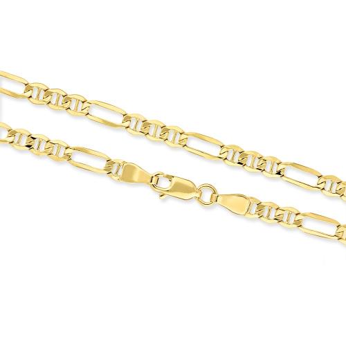 Złoty Łańcuszek Figaro 45cm pr. 585