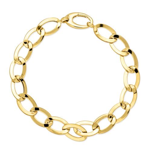 Złota bransoletka duże ogniwa - Pancerka 20cm pr.333