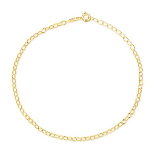 Złota bransoletka - Zdobiony Ankier pr.333
