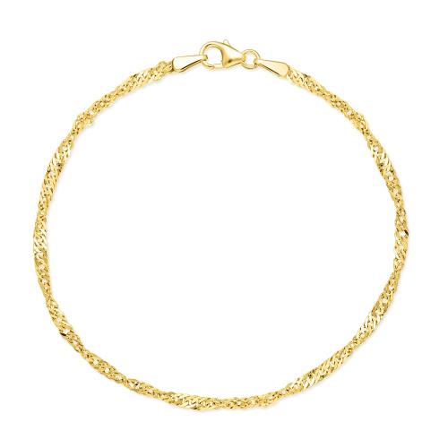 Złota bransoletka - Singapur 18cm pr.333