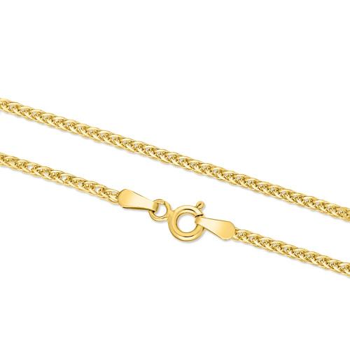 Złoty łańcuszek - Lisi Ogon 45cm pr.333
