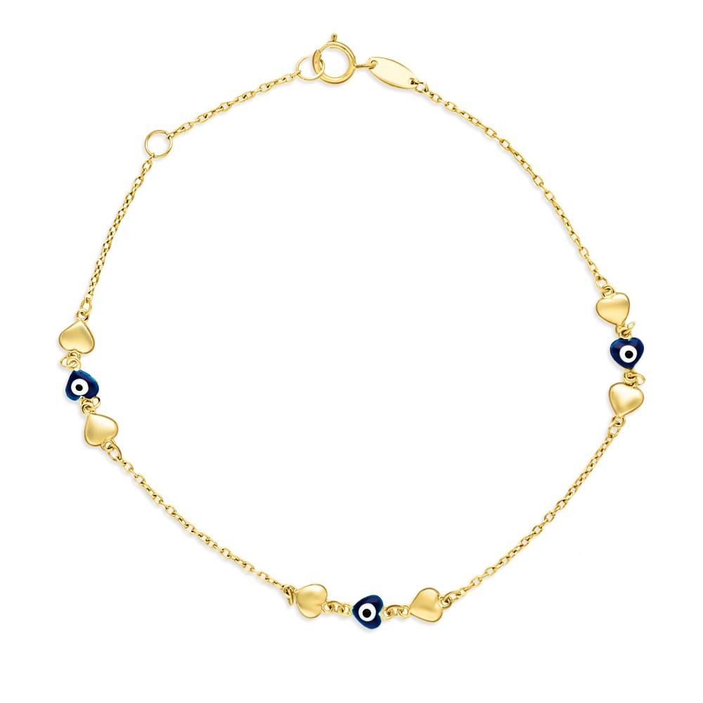 Złota bransoletka celebrytka - Oko Proroka pr.333