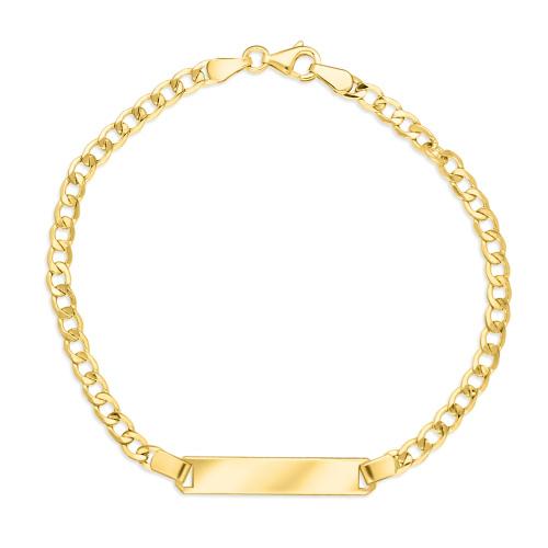 Złota bransoletka pancerka - Blaszka Pod Grawer 18cm pr.333