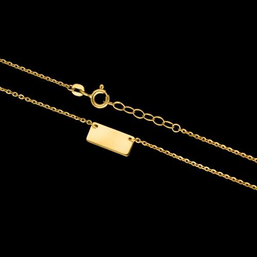 Złoty naszyjnik celebrytka - Blaszka pr.585