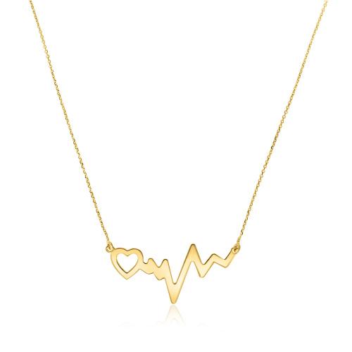 Złoty naszyjnik celebrytka - Linia Życia pr.585