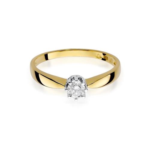 Pierścionek zaręczynowy z brylantem 0,15ct pr.585
