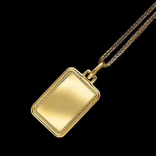 Złota zawieszka - Nieśmiertelnik, Blaszka pod Grawer pr.333