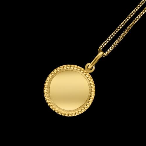 Złota zawieszka - Medalion Nieśmiertelnik pod grawer pr.333