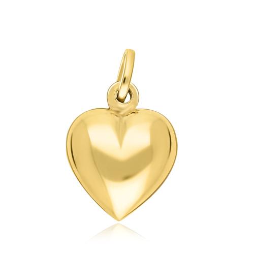 Złota zawieszka - Gładkie Serce pr.585