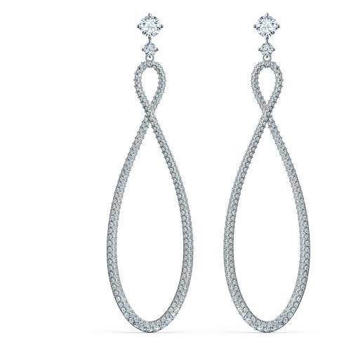 Kolczyki Swarovski - Infinity Hoop, Silver 5518878