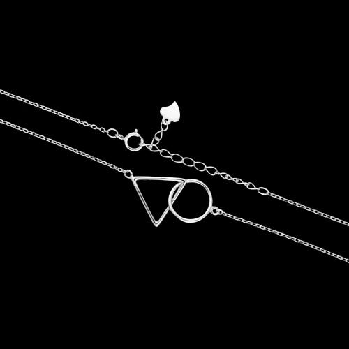 Srebrny naszyjnik celebrytka - Figury Geometryczne pr.925
