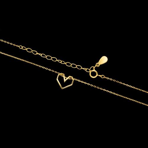 Pozłacany naszyjnik - Serce pr.925