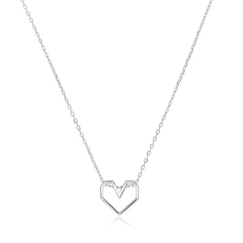 Srebrny naszyjnik - Serce pr.925