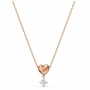 Naszyjnik Swarovski - Lifelong Heart, Rose Gold 5516542