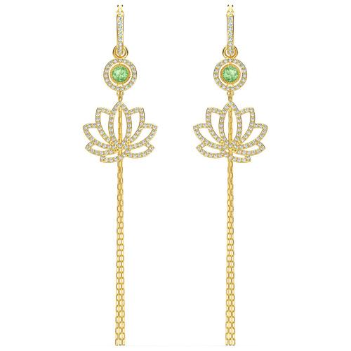 Kolczyki Swarovski - Symbolic Lotus, Gold 5522840