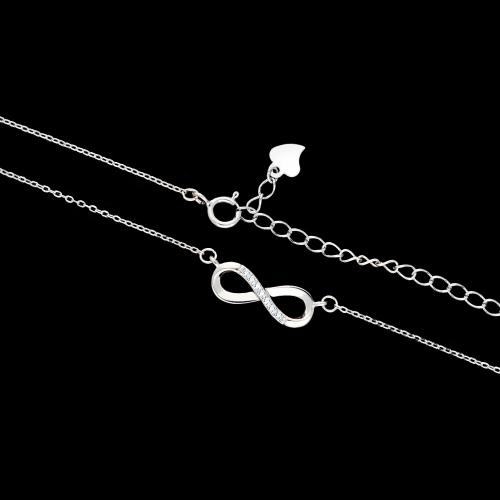 Srebrny naszyjnik celebrytka z cyrkoniami - Nieskończoność pr.925