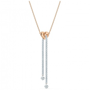 Naszyjnik Swarovski Y - Lifelong Heart, Rose Gold 5517952