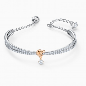 Bransoletka Swarovski - Lifelong Heart, Bangle, Silver 5516544